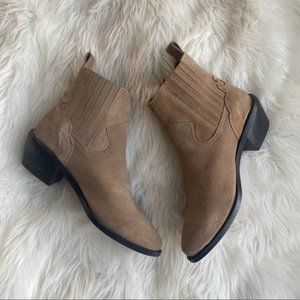 NEW Urban Outfitters Western Style Tan Ankle Boots